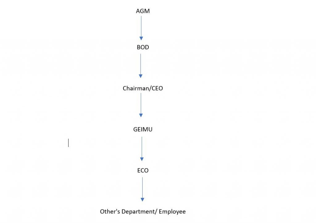 RKD Holdings- Company chain of Command